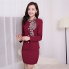 BLKE 1511 spring designs slim fit career long sleeve work pant suit Flight attendant uniform