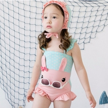 lovely baby rabbit kid girl swimwear