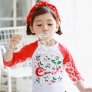 cheery printing cute girl child swimwear