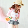 cute teen Flamingo printing cute girl child swimwear