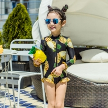 cute pineapple printing cute girl child  teen swimwear