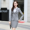 Light Grayelegant beauty Korea lady work suits reception uniform