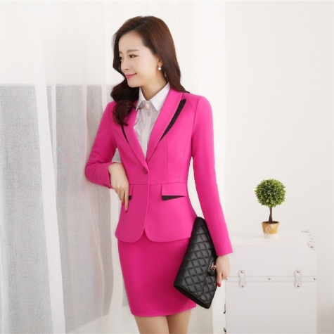 profession design secretary office lady skirt suits uniform BLKE 1506