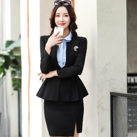 Korea style fashion women staff skirt suits work uniform