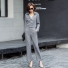 Light Bluefashion casual pant  suits  office work wear