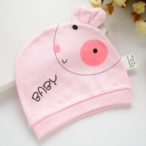 cotton dual ears face newborn infant hat wholesale
