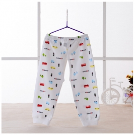 cotton bus tree printing newborn pant infant pant