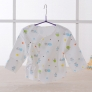 combed cotton comfortable printing newborn coat tops