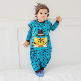 cartoon tiger printing little baby romper kid clothes