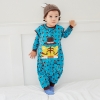 color 4cartoon printing lion baby romper kid clothes