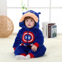 Captain America cartoon child rompers