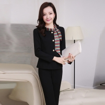 long sleeve administrative secretary office lady work pant suits uniform