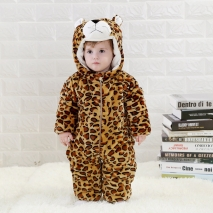 winter design flannel cartoon lion child rompers suits