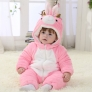 winter warm flannel frog child rompers wear