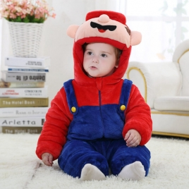 cute super mario flannel kid toddler romper