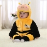 cute cartoon bee  flannel kid toddler romper