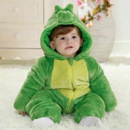 angry bird  flannel thicken children romper