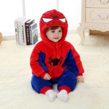 warm spiderman little baby romper