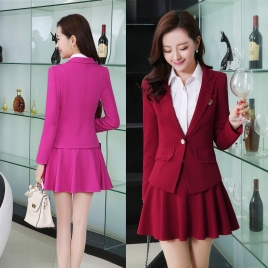 2015 spring popular fashion young lady casual work suits skirt suit uniform