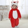 cute fox hooded little kid romper
