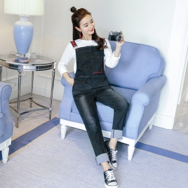 fashion Korea pocket pregnant jeans maternity pant