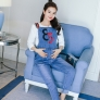 new design 85 letter pregnant women maternity jumpsuit jeans pant