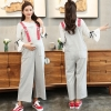 Light Graycasual loose comfortable pregnant women pant maternity jumpsuit