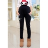 Blacklovely kitty printing fleece maternity pregnant jeans belly pant