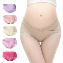 sexy lace low waist maternity pregnant panties underwear