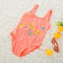 lovely floral one piece children girl swimwear