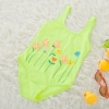 color 5lovely floral one piece children girl swimwear