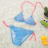 color 1lovely stripes bird printing two piece bikini set children girl swimwear