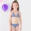 color 2lovely stripes bird printing two piece bikini set children girl swimwear