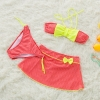 color 2bow dot print children little girl swimwear two piece set
