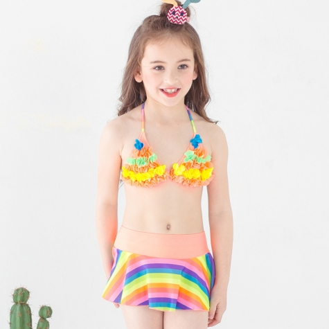 7b016e5ee6 Fashion cloth flower little girl swimwear bikini two piece set tianex jpg  475x475 Little girl swimsuits