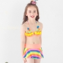 fashion cloth flower little girl swimwear bikini two piece set