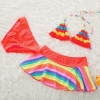 color 2fashion cloth flower little girl swimwear bikini two piece set