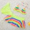 color 6fashion cloth flower little girl swimwear bikini two piece set
