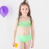 color 1fashion Emoticon print little girl swimwear bikini two piece set
