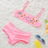 color 5fashion Emoticon print little girl swimwear bikini two piece set
