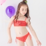 fashion Sequins little girl kid swimwear bikini two piece set