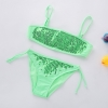 color 4fashion Sequins little girl kid swimwear bikini two piece set