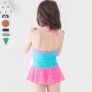 carton girl printing little girl teen swimwear