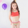 2018 new  Bohemia printing little girl teen swimwear bikini