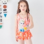 2018 new  Frozen character print little girl teen swimwear