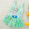 color 22018 new  Frozen character print little girl teen swimwear