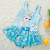 color 32018 new  Frozen character print little girl teen swimwear