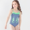 color 12018 new  Hippocampus printing little girl  swimwear swimsuit