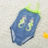 color 92018 new  Hippocampus printing little girl  swimwear swimsuit
