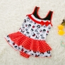 cute carton printing little girl teen  swimwear swimsuit